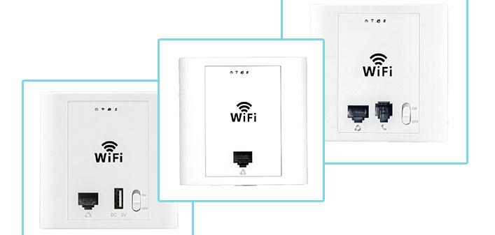 ew300ap酒店无线覆盖入墙式面板无线ap